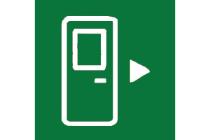 GREENN DOOR OPEN SYMBOL
