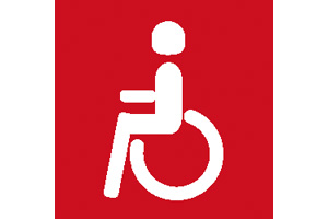 RED DISABLED SYMBOL