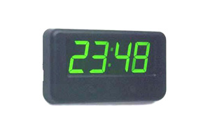 RELOJ DIGITAL 24V VERDE 122X66.5X17MM