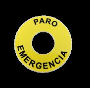 ETIQUETA AMARILLA PARO EMERGENCIA - CASTE